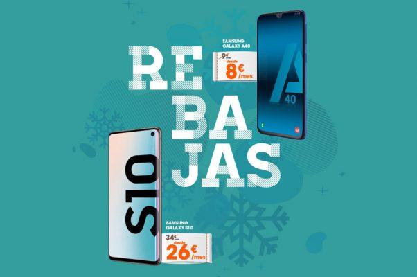 Rebajas de enero Samsung Galaxy A40 y S10