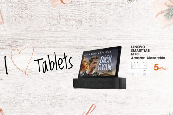 Lenovo tableta bat oparituko dizugu, Alexa integratua duena