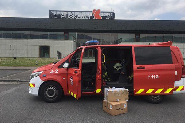 iniciativas sociales durante la crisis sanitaria: Cuerpo de Bomberos Bilbao