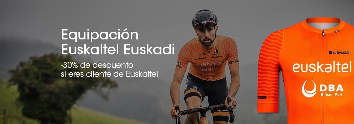 Por ser cliente de Euskaltel te llevas la equipación del Euskaltel Euskadi con un descuentazo