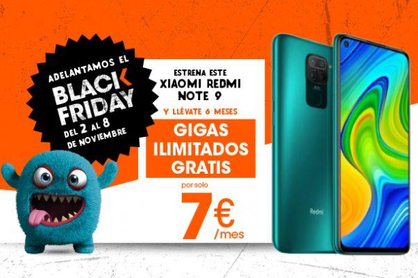 Precios inigualables en el Black Friday de Euskaltel: Xiaomi Redmi Note 9 128GB