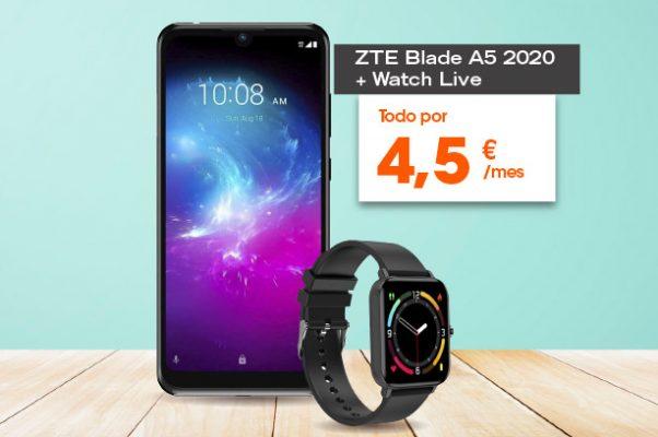 Pack ZTE Blade A5 2020 + ZTE Watch Live