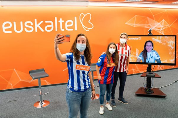 Garazi Murua (Athletic Club), Ane Etxezarreta (Real Sociedad), Sheila Elorza (SD Eibar) y Mai Garde (C.A. Osasuna)