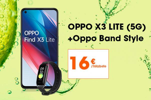 Oppo Find X3 Lite-a, Oppo Band Style eskumuturrekoarekin