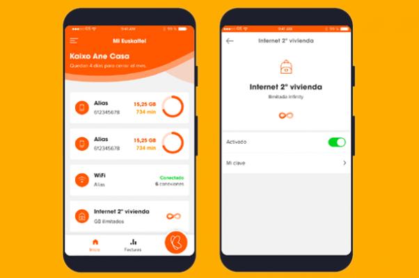 Internet segunda vivienda en la App