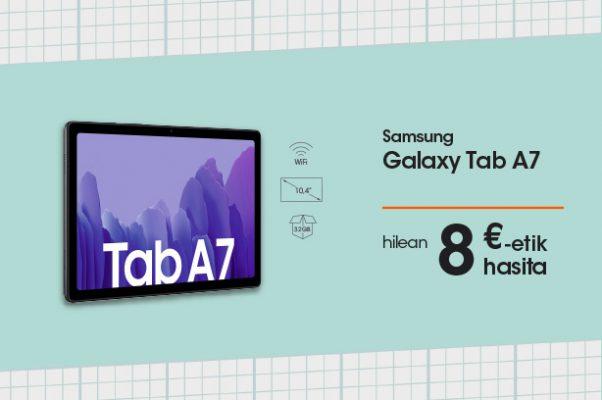 Samsung Galaxy Tab A7 wifiduna