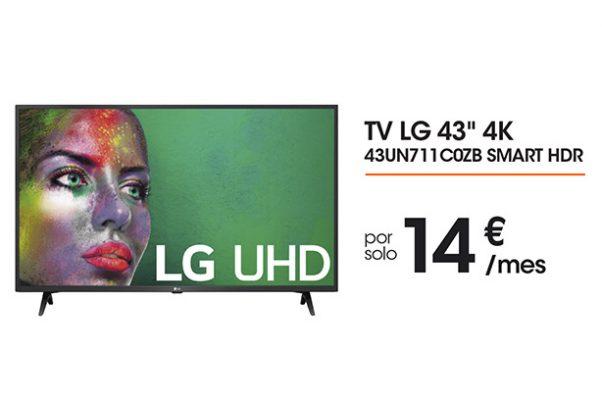 """Televisor LG UHD de 43"""""""